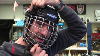 Proper Fitting a Cage on a Hockey Helmet