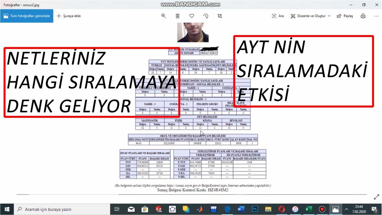 TYT AYT DENEME NETLERİNİZİN SIRALAMASI-KURTARICIMIZ AYT-NASIL 20.000 YAPABİLDİM