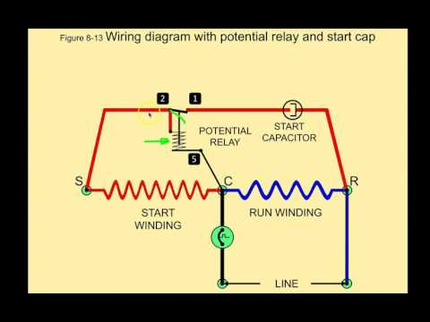 potential relays commercial refrigeration youtube Single Phase Compressor Wiring Diagram