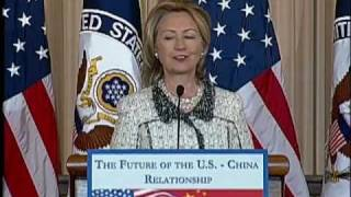 Secretary Clinton Speaks On U.s.- China Relations In The 21st Century