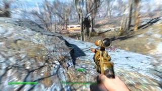 Fallout 4. Встретил легендарного робота-охранника.