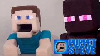 Minecraft Rants : Puppet Steve Rants About The Enderman!