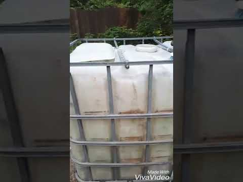 Cleaning out a dirty IBC tank for freshwater use