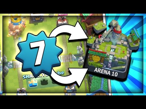 LEVEL 7 PUSHING TO LEGENDARY ARENA 10!! + 12-0 UNDEFEATED GRAND CHALLENGE DECK In Clash Royale