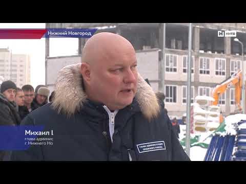 В Нижнем Новгороде  возводят школу и детский сад в новом микрорайоне.
