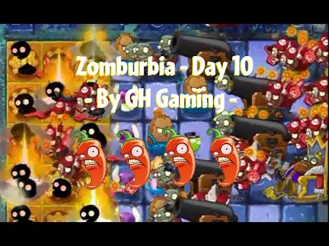 [INSANE] HORRIBLE SUPER-FAN IMPS! Plants vs. Zombies 2: Zomburbia - Day 10 by GH Gaming
