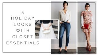 Re-styling closet essentials for holiday outfits + ethical  jeans   SLOW FASHION   MINIMALISM