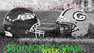 Litezout vs Serious Moe for $50 Money Game | Madden 15 CFM Online Gameplay w/ MADDEN 16 Rosters WK2
