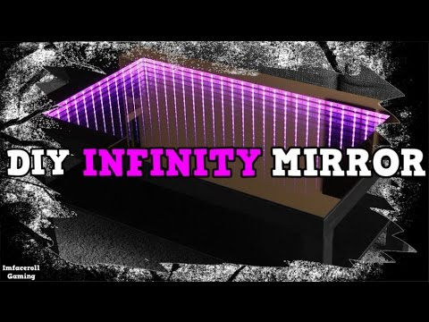 How to make infinity mirror for Custom desk PC Mod  YouTube