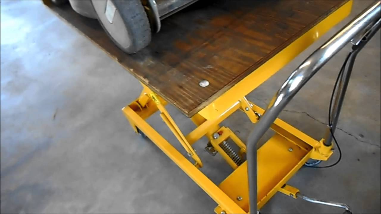 how to use a lawn mower lift