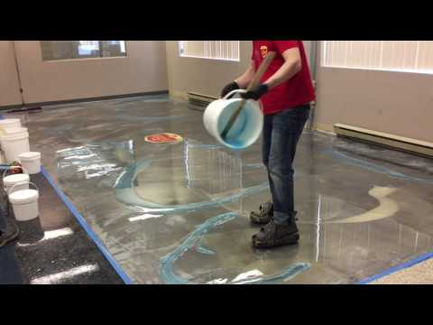 How To Do Amazing Metallic Epoxy Floor!