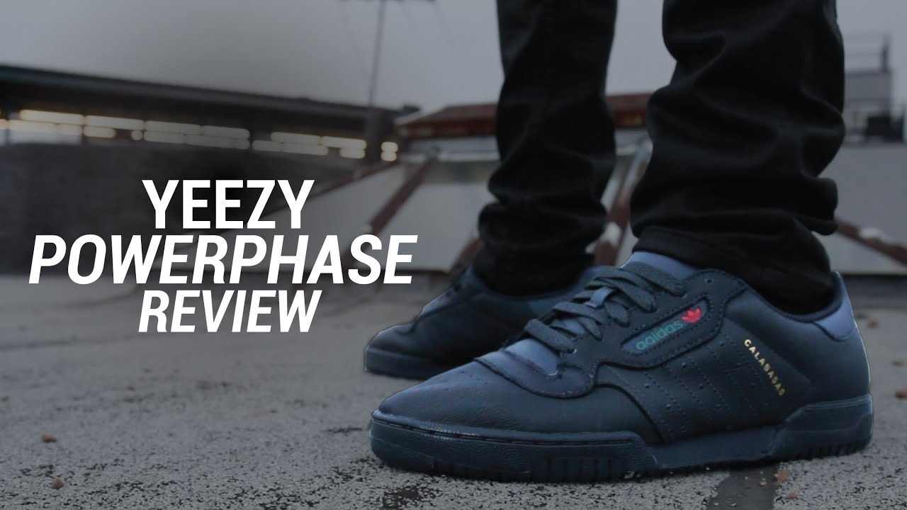 adidas yeezy powerphase calabasas black review su youtube