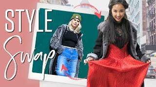 Asian & Western Girls Swap Styles | Try on Weekly challenges