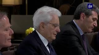 جلالة الملك والرئيس الإيطالي يبحثان فرص توسيع التعاون بين البلدين - (10-4-2019)