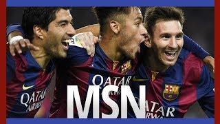 El tridente legendario del FC Barcelona, la MSN. Haciendo historia.