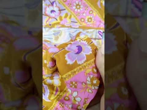 Breeze 歐美 性感 波希米亞 嬉皮 棉質 FP同款 浪漫 印花 長洋裝 V領 連衣裙 海邊 度假 AA304