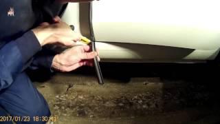Шумоизоляция дверей автомобиля с помощью резинового уплотнителя из китая.