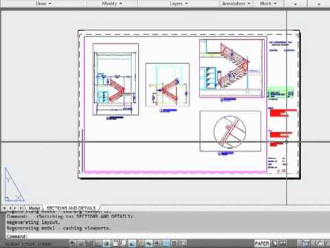 Papercraft AutoCAD 2012 -  Model Space And Paper Space - Tutorial Video