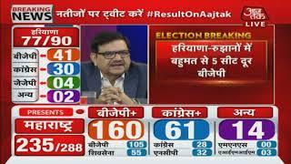 Haryana Election Results: Haryana में BJP को 41 सीटों की बढ़त , कांग्रेस चल रही 30 पर