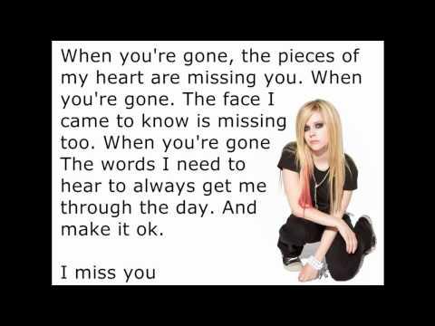 Avril Lavigne - When You're Gone [Lyrics/Letra]