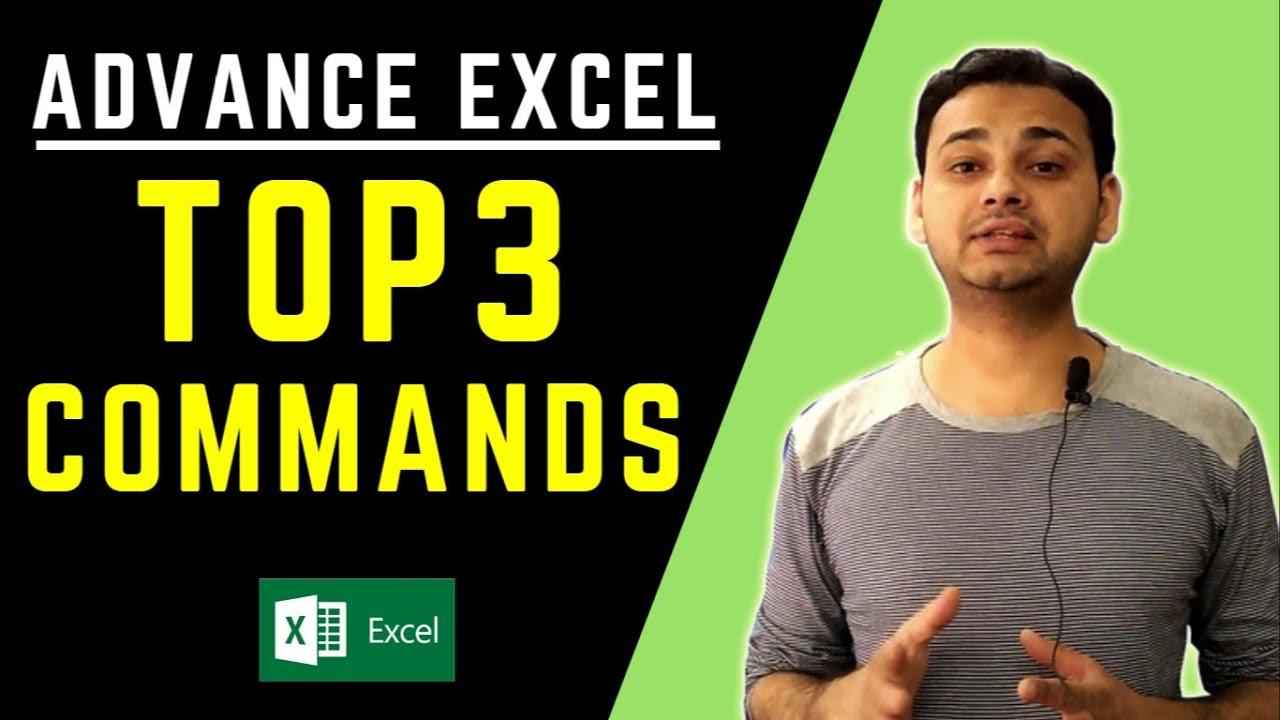 Top 3: Advanced Excel Tips (Powerful & Faster!!) in Hindi [Tech Guru Plus]