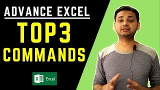 Top 3: Advanced Excel Tips 2018 (Powerful & Faster!!) in Hindi [Tech Guru Plus]