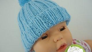 Gorro de Trico Bebê Dorminhoco - 1º Parte - Aprendendo Tricô Manual