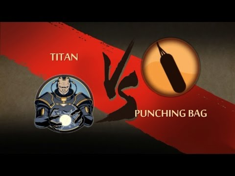 TITAN Vs PUNCHING BAG...!!SHADOW Fight 2 Mod!!