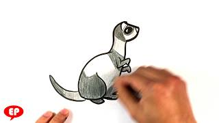 How to Draw a Cute Ferret - Easy Pictures to Draw