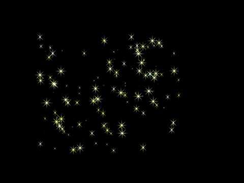 Футаж Мерцающие звёзды на прозрачном фоне Ал  Ковалюк 10 сек