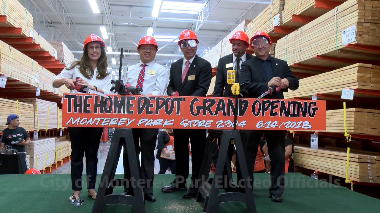 Monterey Park Home Depot Grand Opening Board Cutting