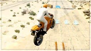 GTA 5 Funny Moments - Intense Bike Stunts - (GTA V Online Games Stunts)