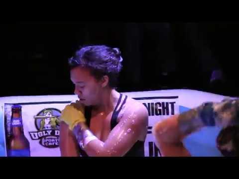 ELIZABETH: Sausage bikini wrestling