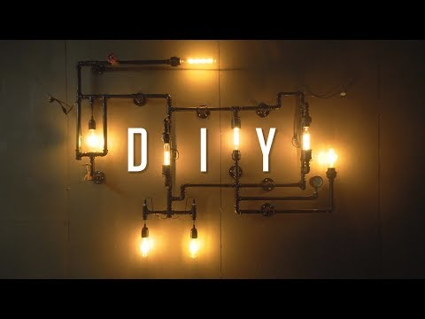 DIY Industrial Wall Pipe Lamp Tutorial / Build Guide