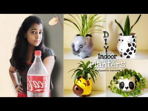 4 Easy Plastic Bottle Planters Idea | Plastic Bottle Craft | diy succulent planter | Planter pots