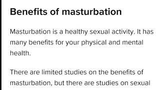 Benefits of masturbation