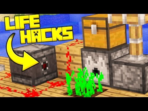 20 Simple Minecraft LIFE HACKS!