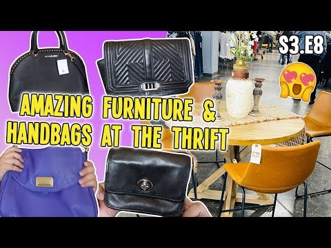 AMAZING FURNITURE & HANDBAGS AT THE THRIFT | GOODWILL HUNTING & HAUL S3.E8