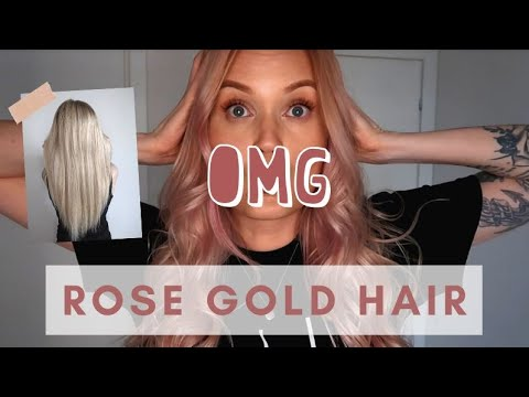 ROSE GOLD HAIR AT HOME | Moroccanoil Color Depositing Mask