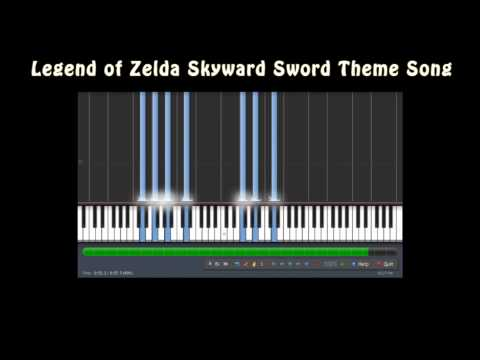 New Legend of Zelda - Skyward Sword Theme Song Music Notes MIDI