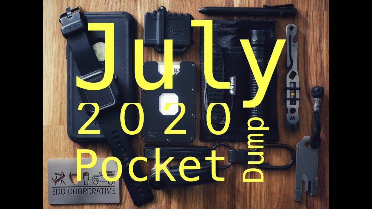 July 2020 Everyday Carry Pocket dump