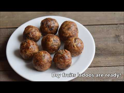 Dry Fruits Ladoo Recipe for Babies, Toddlers and Kids | Energy Balls Recipe