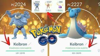 ¡Mis primeros POKÉMON CON SUERTE! INTERCAMBIOS AFORTUNADOS en Pokémon GO!!! [Keibron]