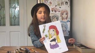 How to draw Manga - Maya shows how to draw Winry from Fullmetal Alchemist