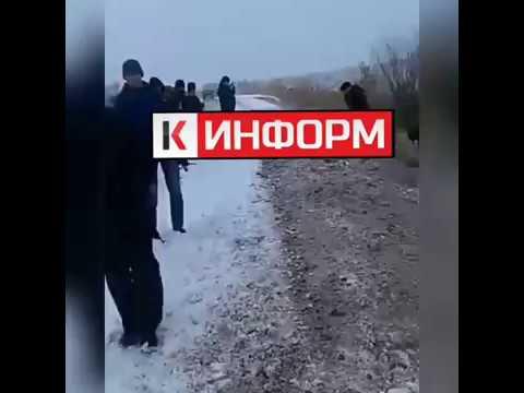 В СУРГУТСКОМ РАЙОНЕ ПЕРЕВЕРНУЛСЯ АВТОБУС.