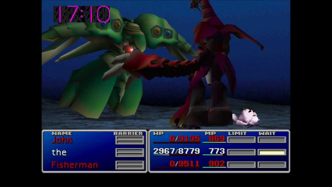 Final Fantasy Vii Ruby Weapon Fighting Emerald Weapon