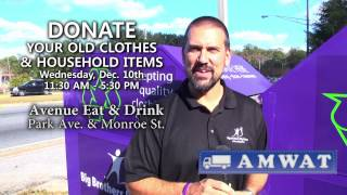 Big Brothers Big Sisters Purple Bin Clothing Drive