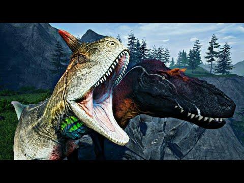 Carnotaurus Vs Albertosaurus [Corrida Jurassica] Dinosaur Run #1
