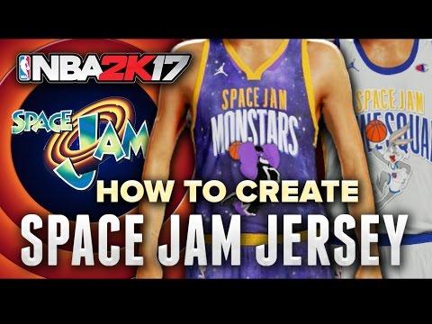 NBA2k17 MyTeam Tune Squad + Monstars Space Jam Jersey Tutorial