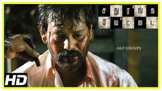 Sathuranga Vettai Scenes | Natraj is cleared of charges & released | Natraj's friends betray him